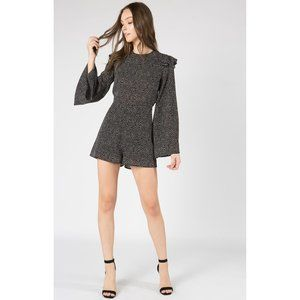 NWT Nordstrom Fanco Dotted Open Back Tie Romper